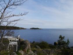 Schöner Ausblick auf die Bucht in Karlshamn
