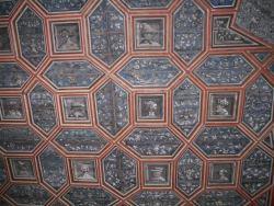 Original Zimmerdecke aus der Zeit von Gustav Vasa