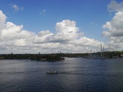 Der Vergnügungspark - Gröna Lund rechts im Bild