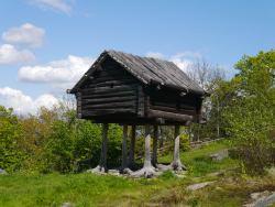 alte Haus, vorwiegend in Lappland