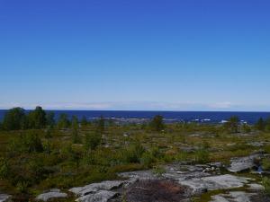 Schöne Aussicht von der Insel Tankar Richtung Westen