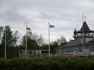 Extra für uns, denn andere Deutsche sind nicht hier und bei der Ankunft wehte dort noch keine Fahne!