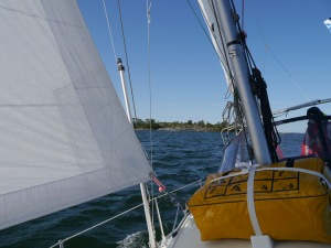 Wir segeln bei super Wetter