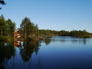 An diesem schönen See schliefen wir eine Nacht im Zelt