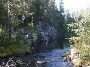 Der Fluß fließt durch den gesamten Nationalpark.